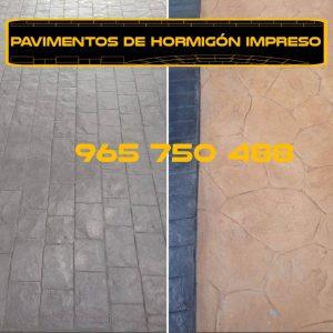 Hormigón impreso en Jávea, Moraira, Calpe y Atea